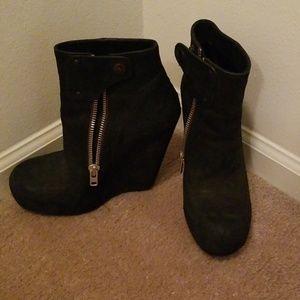 "Rick Owens 6"" heel boots"